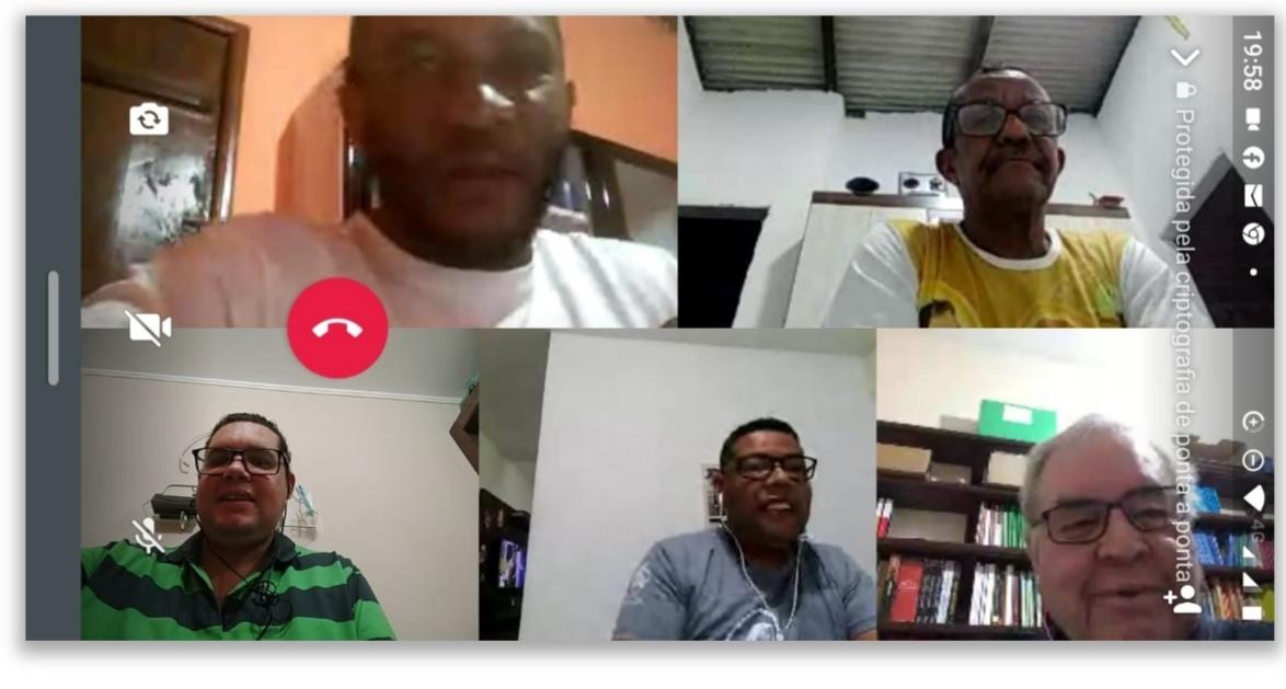 Retiro Espiritual online com candidatos ao Diaconato Permanente da Diocese de Ilhéus , Brasil