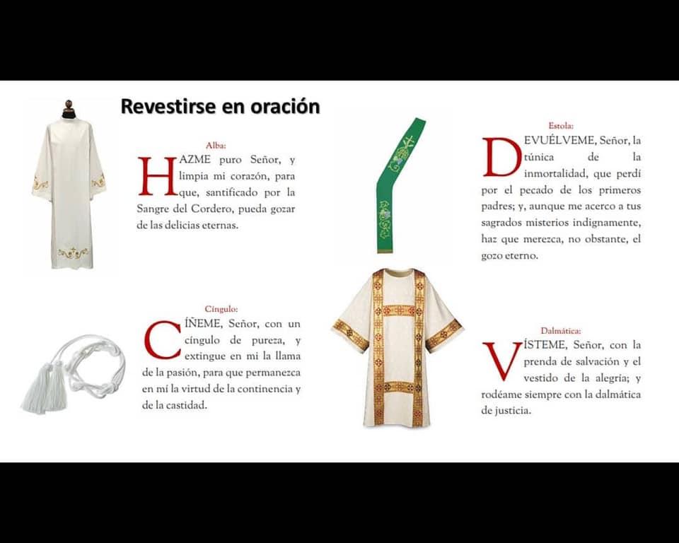 Vestimenta del Diácono y oraciones para revestirse, oferta de los diáconos de la Arquidiócesis de San Juan de Puerto Rico
