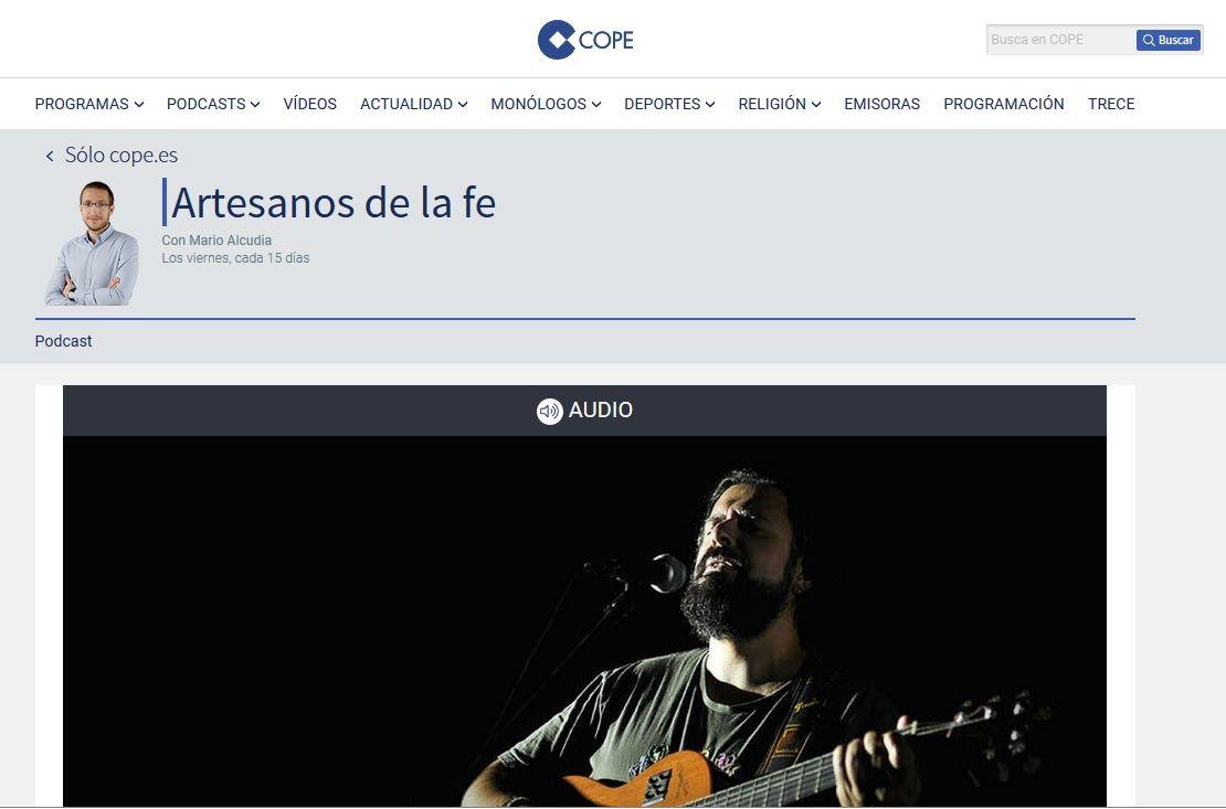 El diácono Alejandro Abrante entrevistado por COPE, España