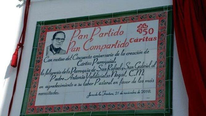 Diácono permanente, Francisco Holgado Ruiz, responsable de economato social, en Jerez, España