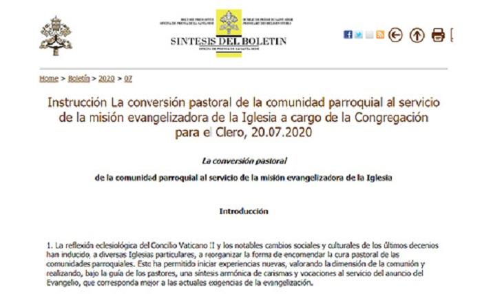 Referencias indirectas al ministerio diaconal en la nueva Instrucción de la Congregación del Clero sobre la parroquia al servicio de la misión evangelizadora