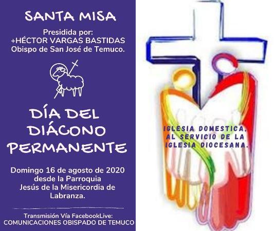 Domingo 16: Celebración Día del Diácono en la diócesis de Temuco, Chile