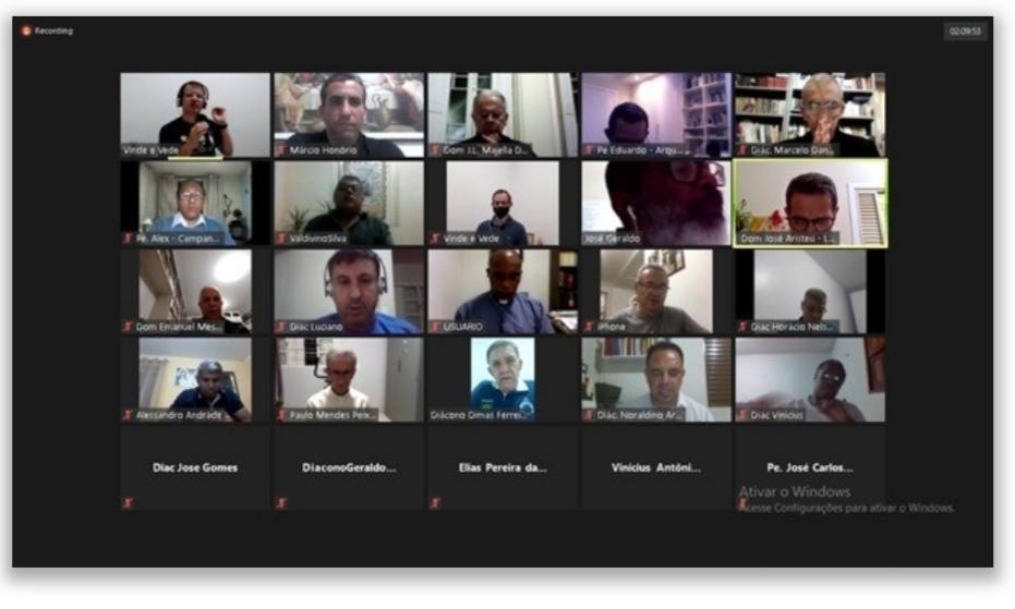 Encontro virtual de Diretores e Formadores de Escolas Diaconais da CRD Leste, Brasil