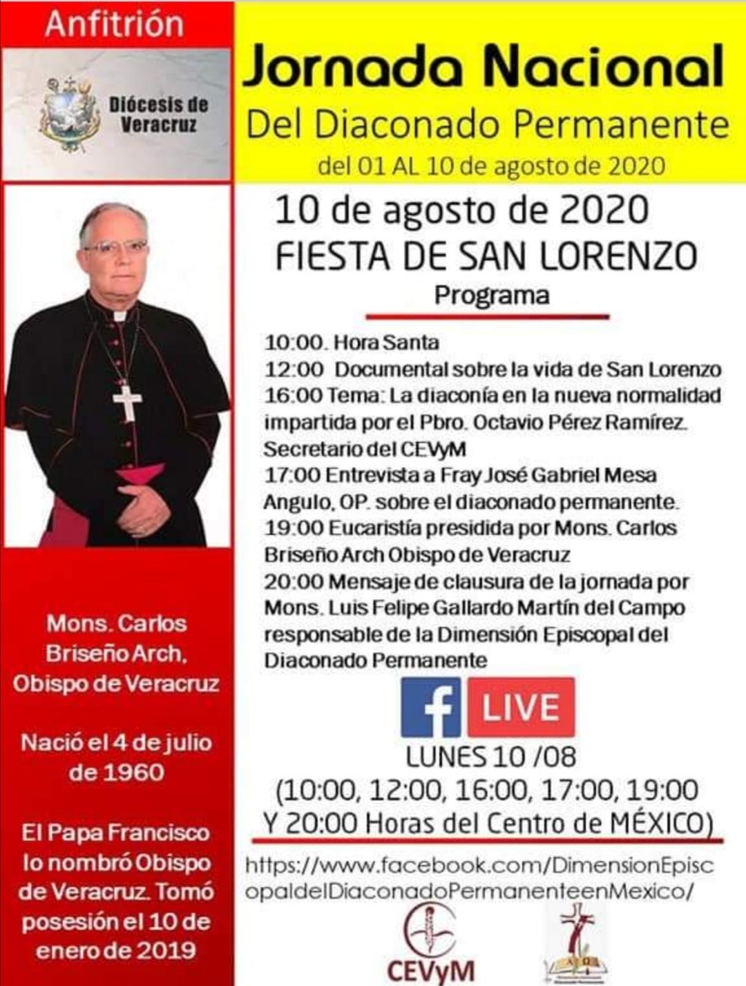 Iglesia de México. Jornada de Oración del Diaconado Permanente, día 10