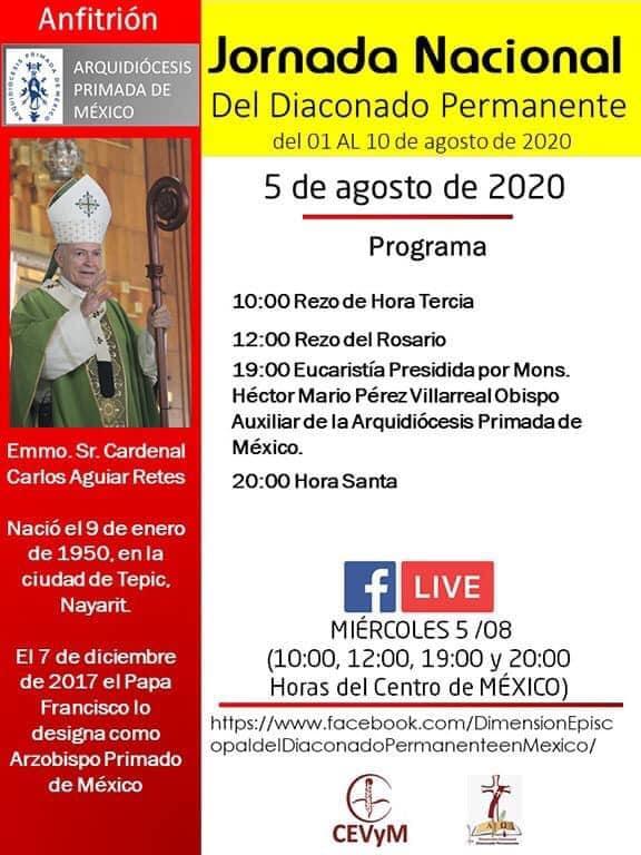 Iglesia de México. Jornada de Oración del Diaconado Permanente, día 5