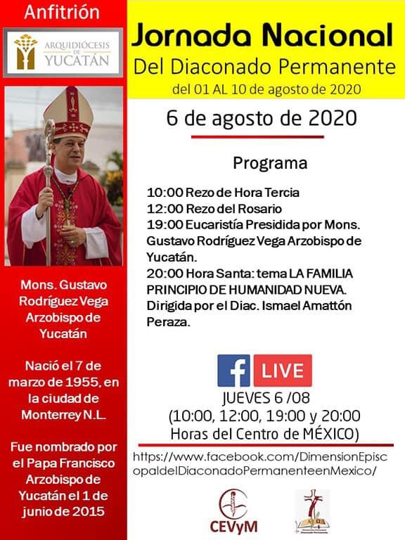 Iglesia de México. Jornada de Oración del Diaconado Permanente, día 6