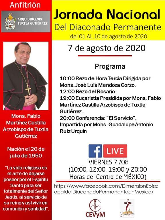 Iglesia de México. Jornada de Oración del Diaconado Permanente, día 7
