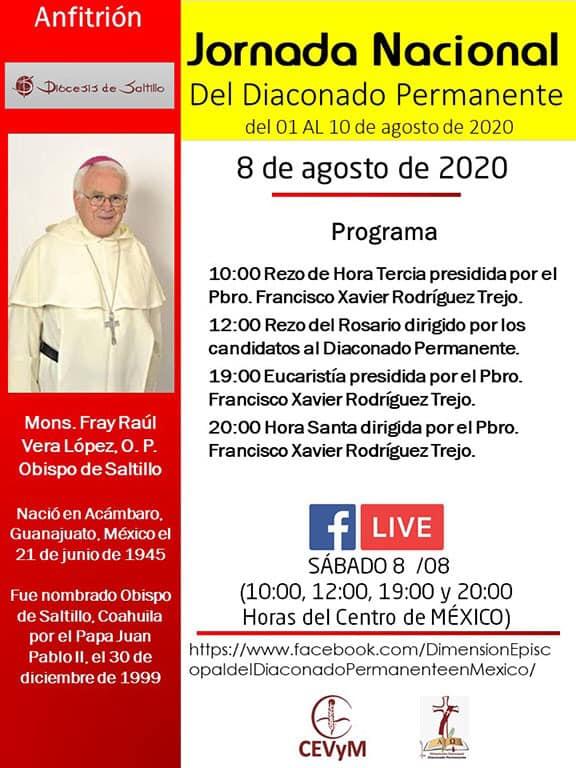 Iglesia de México. Jornada de Oración del Diaconado Permanente, día 8