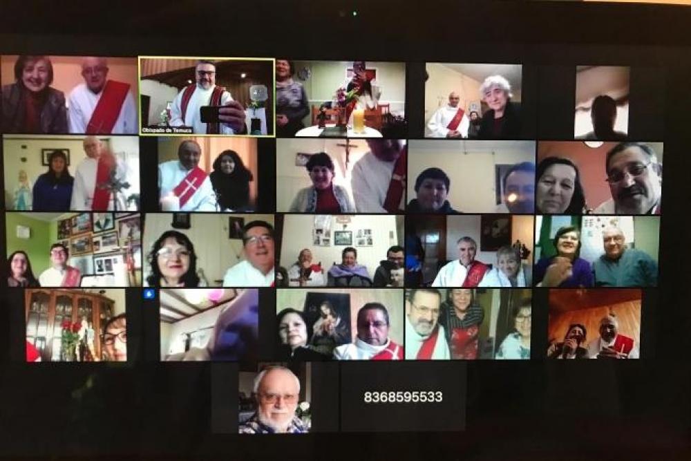 Diáconos celebran fiesta patronal junto a Obispo de Temuco, Chile