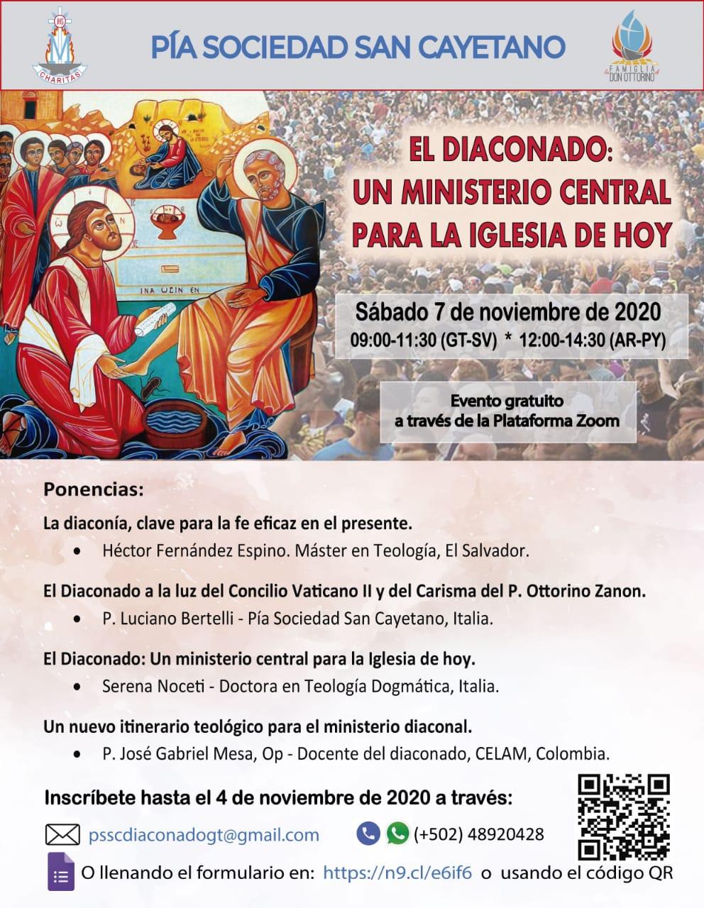 Mañana acaba el plazo para inscribirse en la Jornada Formativa, vía zoom:  «El diaconado: un ministerio central para la Iglesia de hoy»