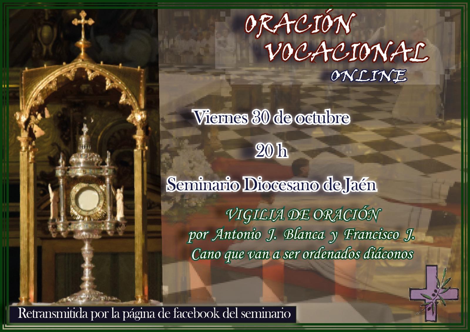 Diócesis de Jaen -España-: La oración vocacional del mes de octubre será online por los nuevos diáconos