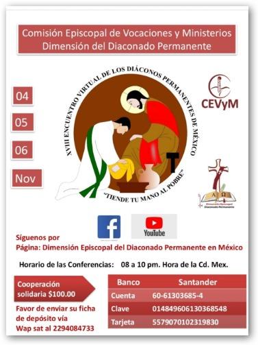 XVIII Encuentro virtual de los diáconos permanentes de México