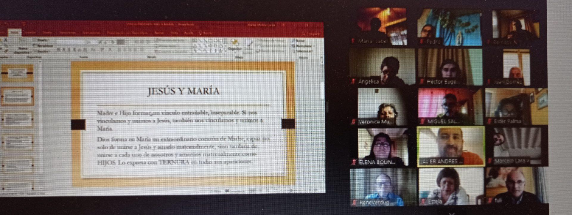 """Charla del diácono Javier Molina -Chile-:  """"María en medio de su pueblo como Madre de esperanza""""."""