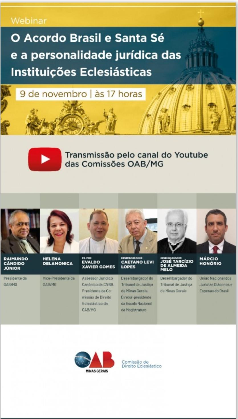 União de Juristas Diáconos e Esposas do Brasil participa de evento online no dia 9 de novembro