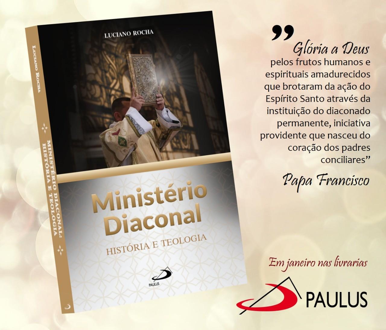 Diácono Luciano Rocha Pinto fará lançamento de novo livro em janeiro de 2021