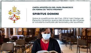 La Carta Apostólica Spiritus Domini
