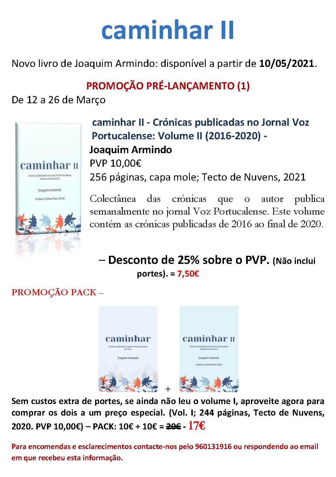 «Caminhar II» novo libro do diácono Joaquim Armindo