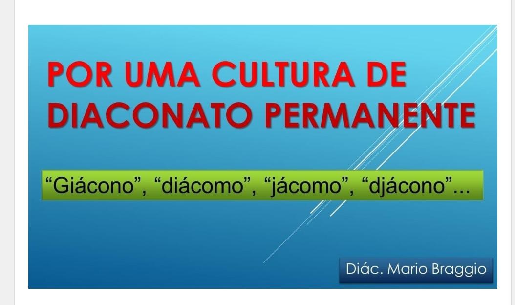 POR UMA CULTURA DE DIACONADO PERMANENTE