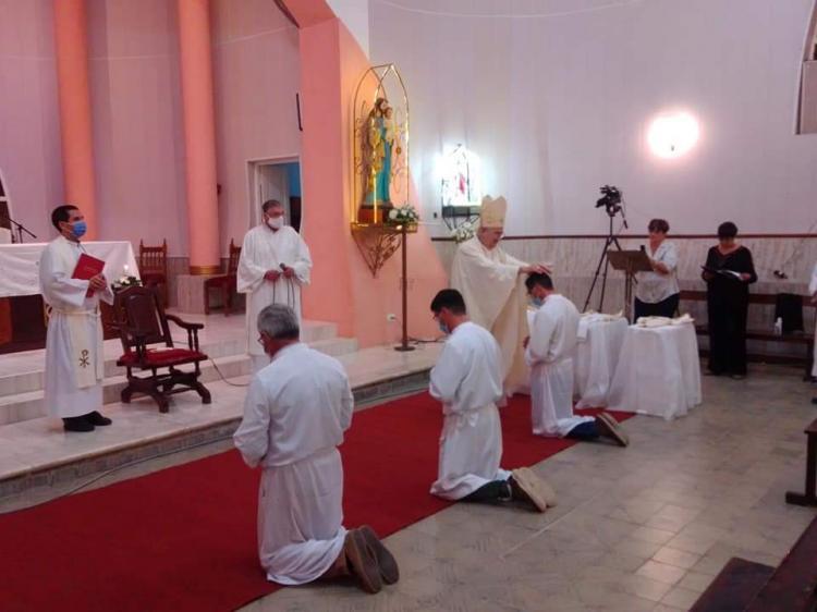 Homilía de monseñor Luis Alberto Fernández, obispo de Rafaela, en la misa de ordenación de diáconos permanentes