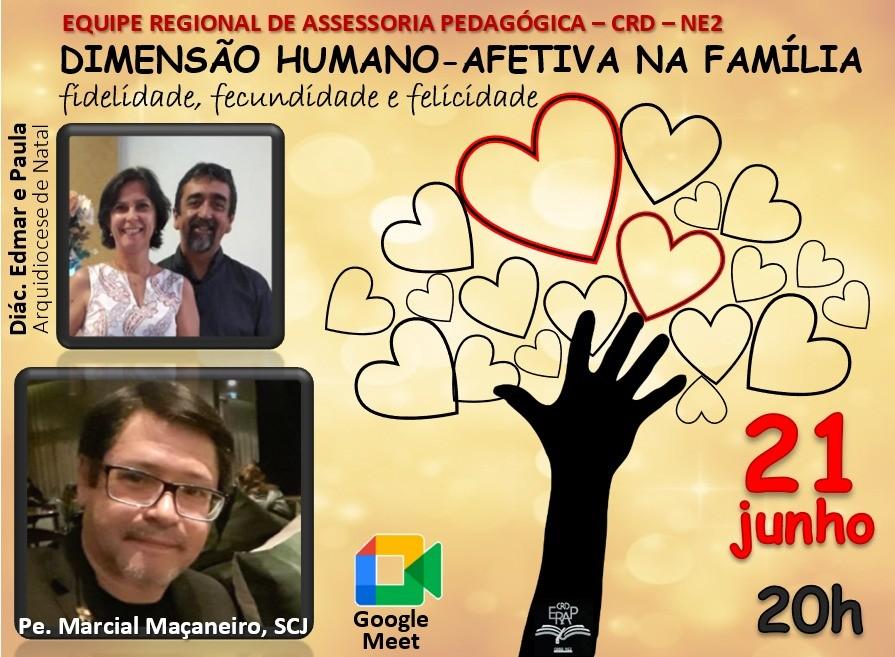 FAMÍLIAS DIACONAIS DA CRD NE 2, BRASIL,  TERÃO MOMENTO FORMATIVO DIA 21