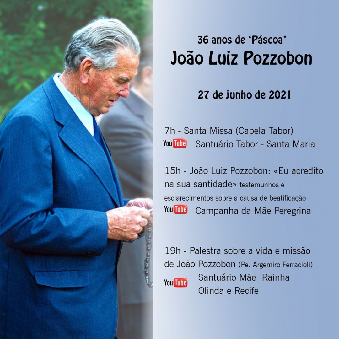 Santuário da Mãe Rainha de Olinda (PE) promove eventos em memória dos 36 anos do falecimento do Diácono João Luiz Pozzobo