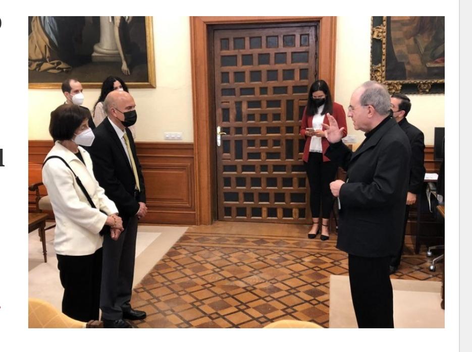 Archidiócesis de Sevilla, España: Medalla pro Ecclesia Hispalense para el diácono permanente, Andrés Cebrino