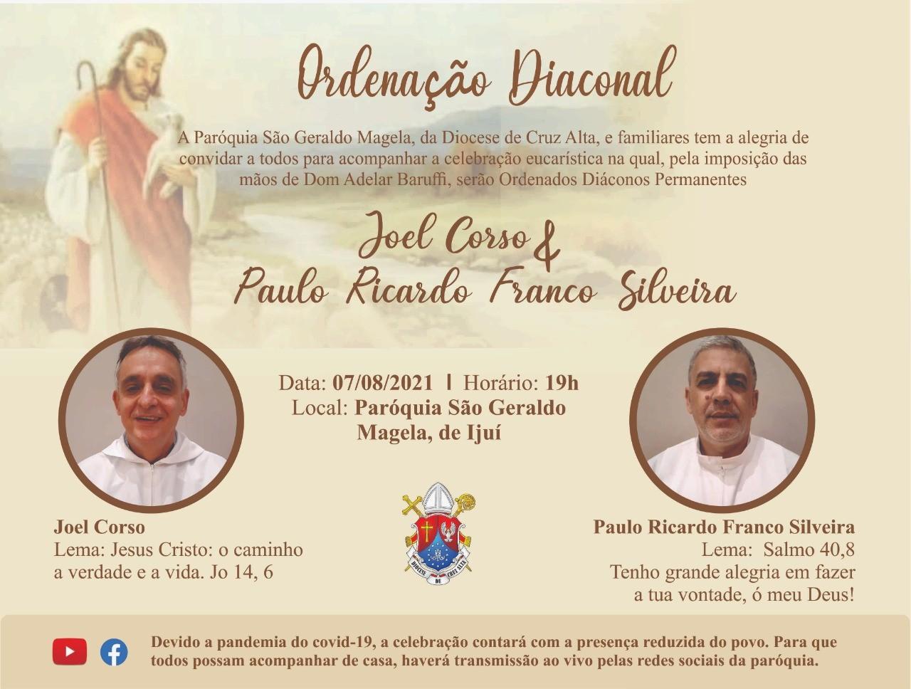 Convite de Ordenações da Diocese de Cruz Alta (RS, Brasil)