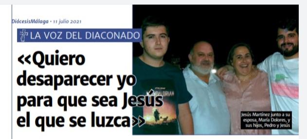 Testimonio desde Málaga, España: «Quiero desaparecer yo para que sea Jesús el que se luzca»