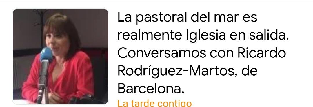 La pastoral del mar es realmente Iglesia en salida. Conversamos con el diácono Ricardo Rodríguez-Martos, de Barcelona, España.