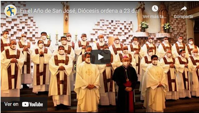 En el Año de San José, Diócesis de Temuco -Chile- ordena a 23 diáconos permanentes para la Iglesia