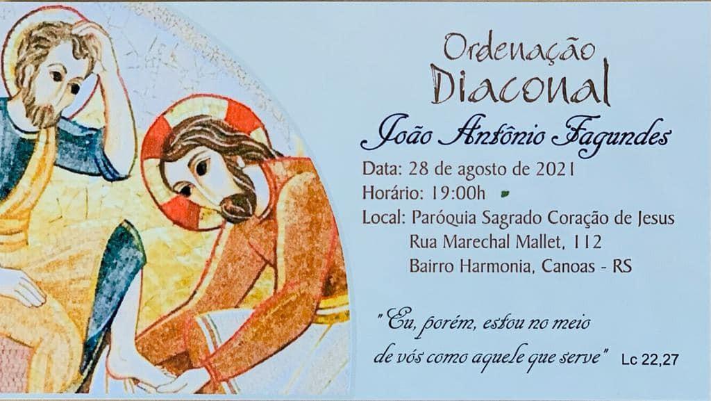 CONVITE DE ORDENAÇÃO DIACONAL PERMANENTE DA ARQUIDIOCESE DE PORTO ALEGRE (RS, BRASIL)