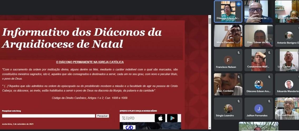 DIÁCONO DE NATAL -BRASIL- CRIA PÁGINA VIRTUAL PARA DIVULGAR AÇÕES DIACONAIS E ECLESIAIS