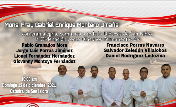 Ordenación de primeros Diáconos en la Diócesis de San Isidro, Costa Rica