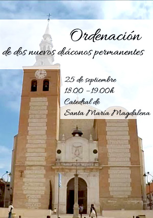 Getafe, España:Ordenación de dos nuevos diáconos permanentes